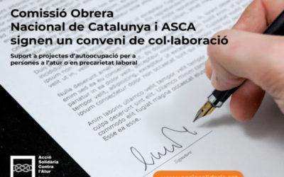 Signem un conveni de col·laboració amb CCOO